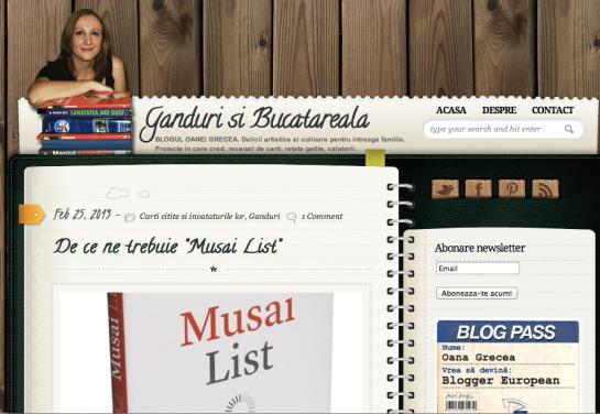 Oana Grecea despre Musai List